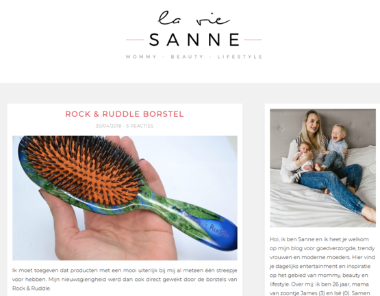 Rock & Ruddle La Vie Sanne april 2018