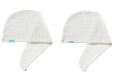 2-pack Aquarius Hair Turban White