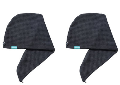 2-pack Aquarius Hair Turban Dark Grey